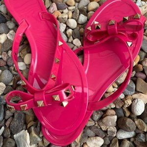 Shoes - Pink Jelly Rockstud Sandal
